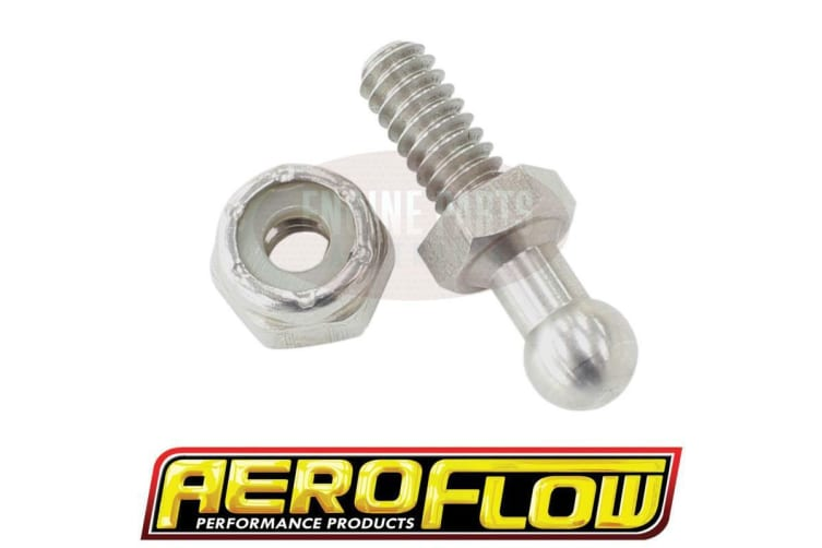 Aeroflow Throttle Ball Stainless 10-24UNC With 3/8 Hex Nut