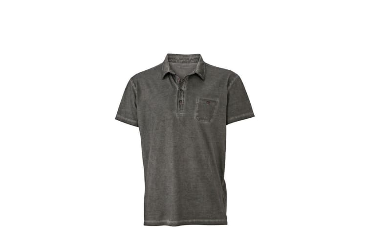 James and Nicholson Mens Gipsy Polo (Graphite Grey) (XL)