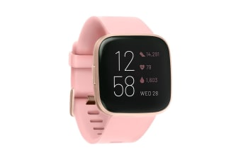 Fitbit Versa 2 Smart Fitness Watch (Petal, Copper Rose Aluminium)