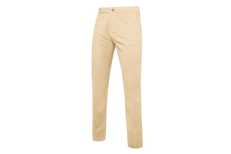 Asquith & Fox Mens Slim Fit Cotton Chino Trousers (Natural) (2XLR)
