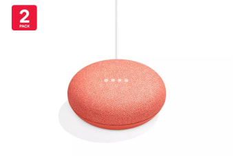 Google Home Mini (Coral) - Australian Model - 2 Pack