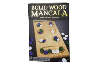 Cardinal Classic Solid Wood Folding Mancala Board Game Kids/Children Toy 6y+