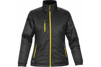 Stormtech Ladies/Womens Axis Water Resistant Jacket (Black/Sundance) (M)