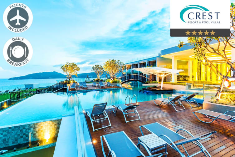 PHUKET: 5 Nights at Crest Resort & Pool Villas Including Flights for Two (Departing BNE)