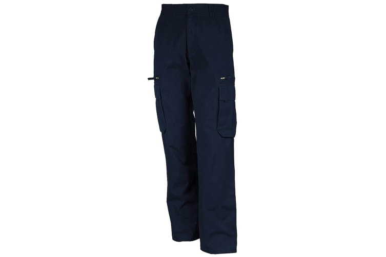 Kariban Spaso Heavy Canvas Workwear Trouser / Pants (Navy) (L)
