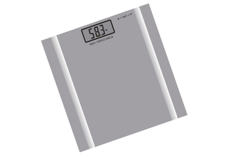 180KG Digital Personal Bathroom Weight Scales Body Fat Bone BMI Water Scale silver