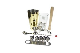 Gold Boston Cocktail Shaker Set