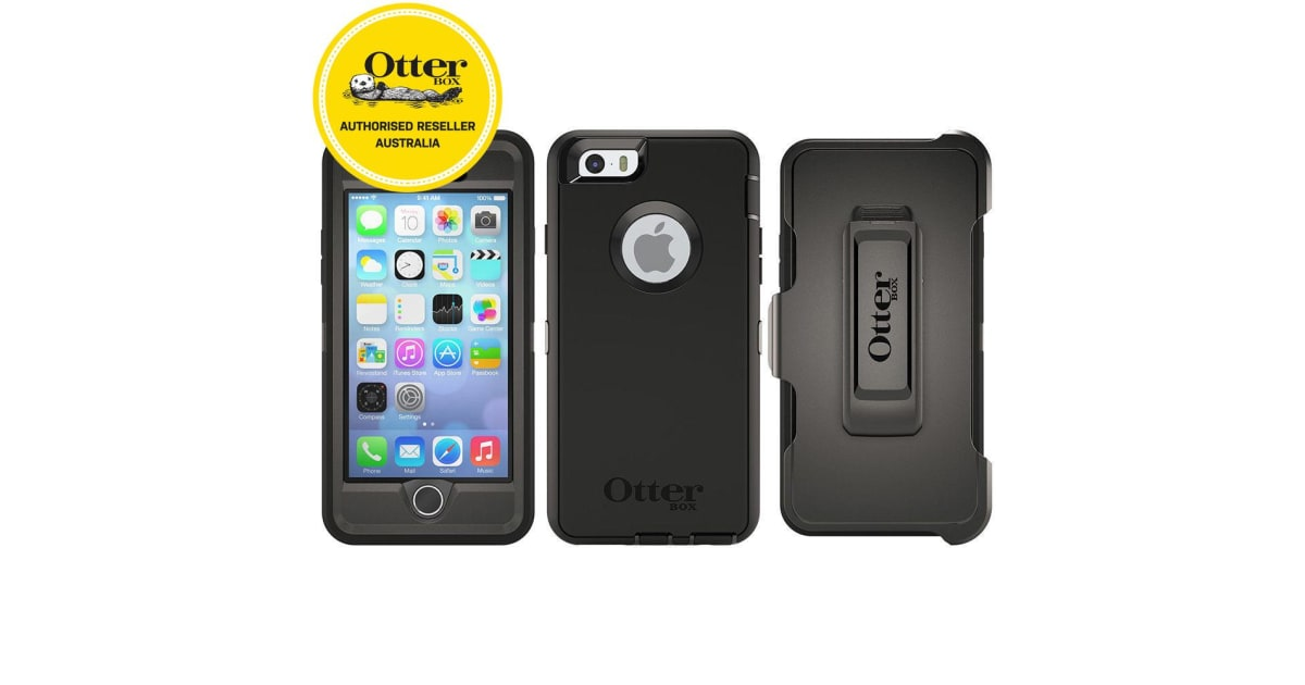 new style 880e4 135ee Otterbox Black Defender Tough Heavy Duty Drop Case/Cover for iPhone  6/iPhone 6s | Handsets & Docks