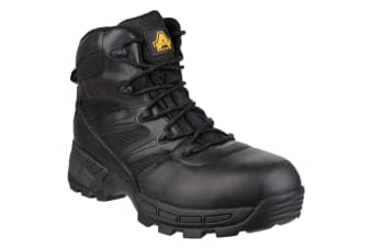 Amblers Mens FS410 Piranha S3 Waterproof Safety Boots (Black)