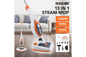 New Maxkon 13-in-1 Steam Mop Cleaner 1500W Handheld Steamer Multiple Function Floor Carpet Orange