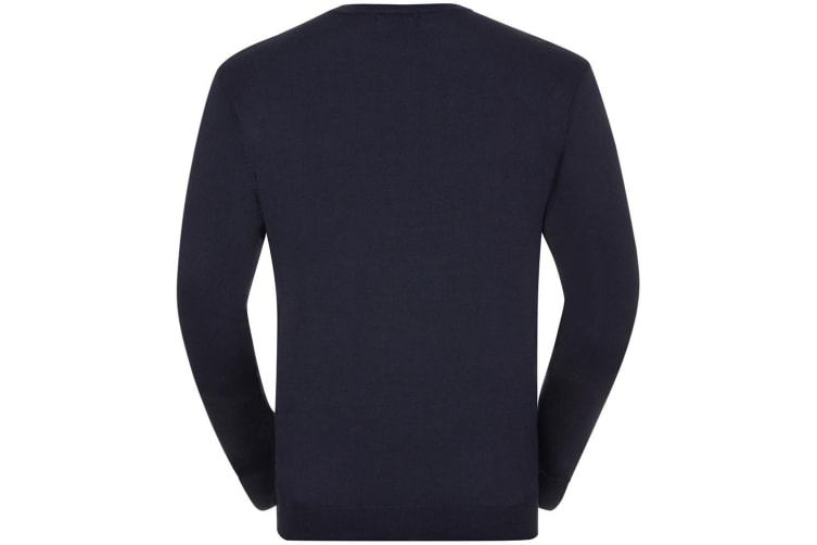 Russell Mens Cotton Acrylic Crew Neck Sweater (French Navy) (XL)