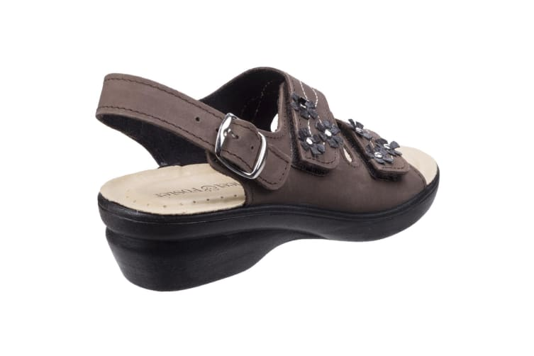 Fleet & Foster Womens/Ladies Amaretto Touch Fastening Leather Sandals (Brown) (6 UK)