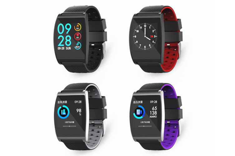 Smart Watch Qs05 Fitness Smart Bracelet Life Waterproof Smartwatch Black Grey