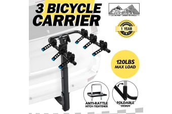 "SAN HIMA 3 Bicycle Bike Carrier Car Rear Rack Foldable 2"" Hitch Mount TowBar"