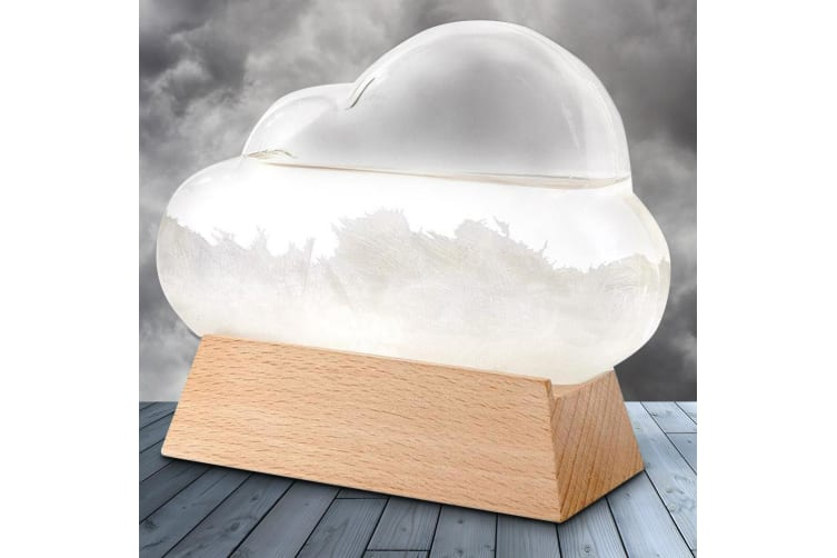 Cloud Shaped Storm Glass Weather Station Barometer | Predicts Storms!
