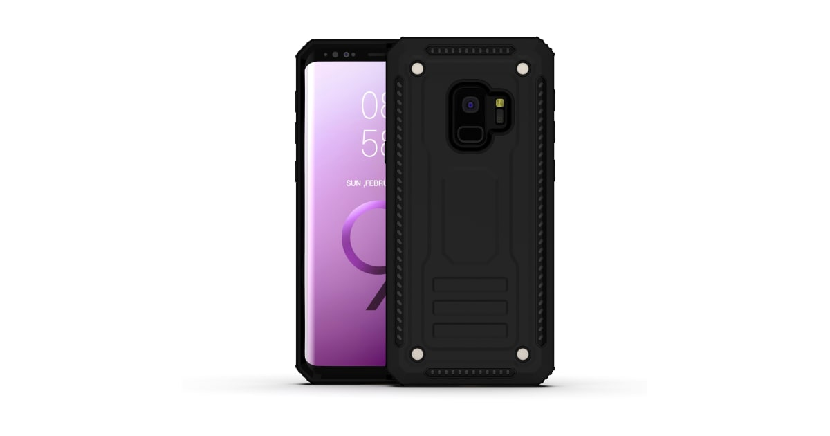 sale retailer 33212 71153 For Samsung Galaxy S9 Case Armour Strong Shockproof Thin Tough Cover Black  | Phone Cases