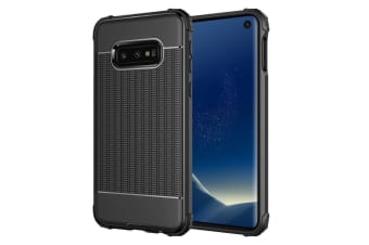For Samsung Galaxy S10e Case Black Dotted Texture Shockproof TPU Back Cover
