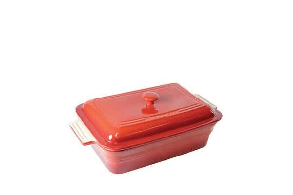 Chasseur La Cuisson Rectangular Dish 40cm with Lid Inferno Red