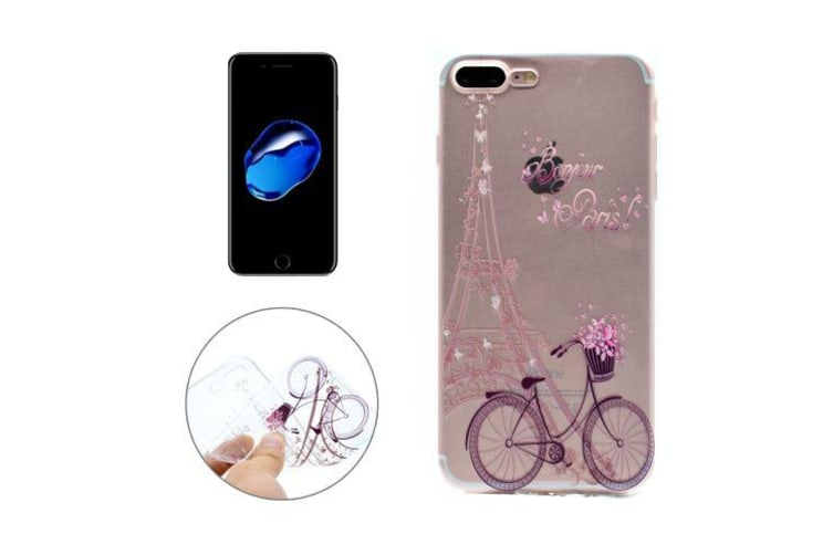 For iPhone 8 PLUS 7 PLUS Case Stylish Bonjur Paris Durable Protective Cover