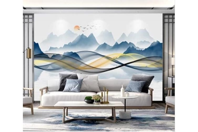 3D Misty Valley 1433 Wall Murals Self-adhesive Vinyl, XXL 312cm x 219cm (WxH)(123''x87'')
