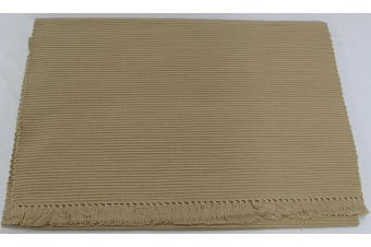Cotton Ribbed Table Runner 45cm x 200cm - WARM SAND