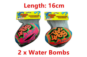 2 x Water Bomb Ball Football Absorbent 16cm Summer Beach Party Event Game Pool WM