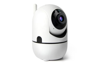 1080P WiFi Home IP Camera,Nanny cam with Auto Tracking, Cloud Service, Night Vision, Two Way Audio for Baby/Elder/Pet-WHITE