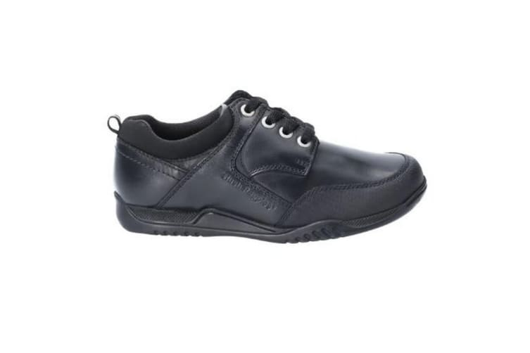 Hush Puppies Dexter Boys Junior Lace Up Leather School Shoe (Black) (12.5 UK Child)