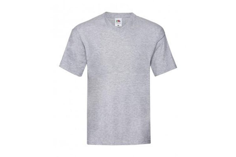 Fruit Of The Loom Mens Original V Neck T-Shirt (Heather Grey) (S)