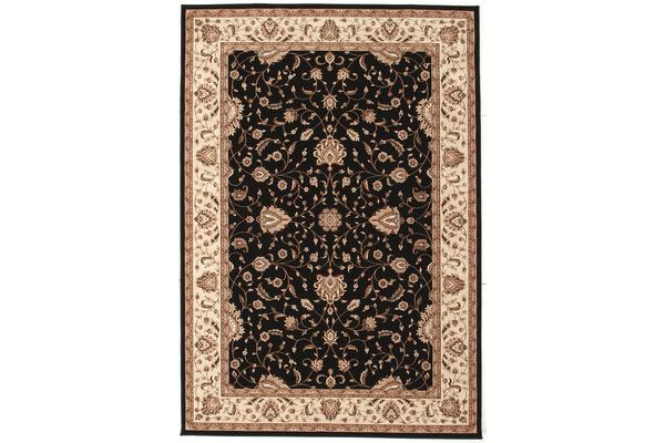 Stunning Formal Classic Design Rug Black 230x160cm