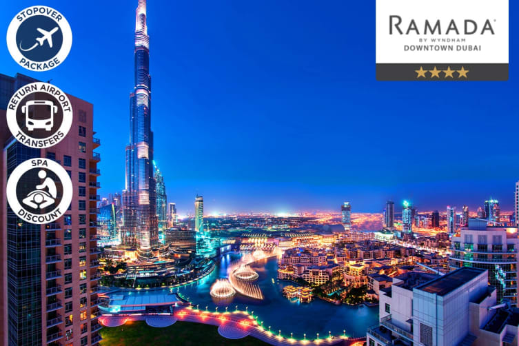 DUBAI: 1 Night Stopover Accommodation Package at Ramada Downtown for Two (Low Season)
