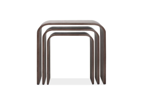 Set of 3 Nesting Tables Wood