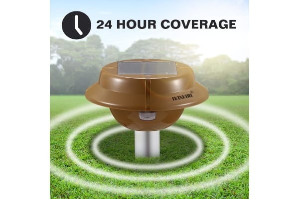 4 x Snake Repeller Sonic Pulse Solar Powered Repellent w/700sqm Coverage