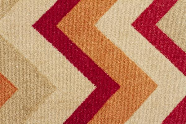 Stunning Chevron Design Rug Rust Red 160x110cm