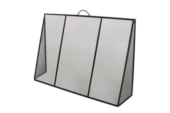 FireUp Sloping Fixed Wing Steel Mesh Fire Screen (65cm H)