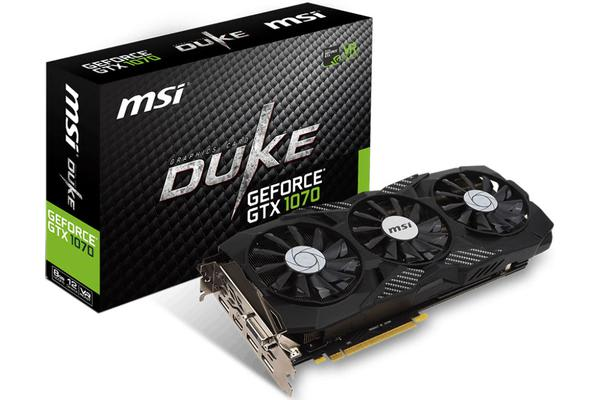 MSI NVIDIA GTX 1070 DUKE 8GB OC Video Card -  GDDR5 3xDP/HDMI/DVI SLI VR Ready 1607/1797MHz