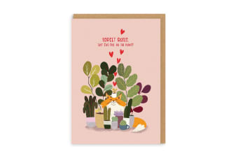 Ohh Deer Forget Roses Greetings Card (Multicoloured) (One Size)