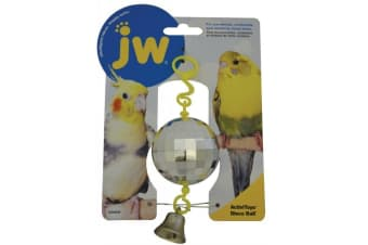 Disco Ball with Bell Plastic Toy for Small Bird by JW Insight