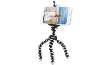 Phone Tripod Portable and Adjustable Camera Stand Holder with Wireless Remote and Universal Clip