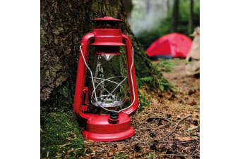 Vintage Battery-Operated Dimmable LED Hurricane Lamp