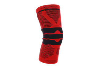 Ultimate Knee Compression Brace Sleeve - 3D Knitted Breathable Silicon Gel Pad For Athletes L