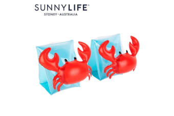 NEW Sunnylife Inflatable Pool Toy Kids Arm Bands Crabby