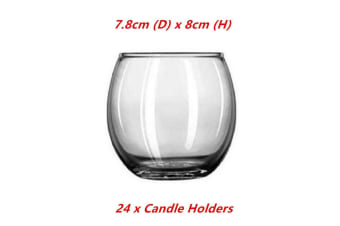 24 x Roly Poly Votive Candle Holder Round Tea Light Tealight Decor Home Party