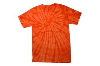 Colortone Childrens Unisex Tonal Spider Short Sleeve T-Shirt (Spider Orange) (S)