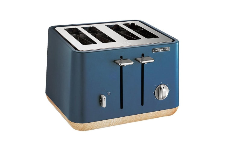 Morphy Richards Scandi 240013 Stainless Steel 4 Slices Slots Bread Toaster Blue