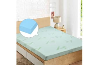 COOL GEL Memory Foam Mattress Topper BAMBOO Fabric Cover Double Size
