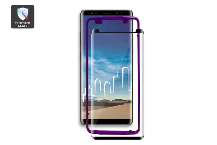 the best attitude d4996 bc7aa Samsung Note 9 Curved Edge 3D Case Version Tempered Glass Screen Protector  with Installer