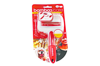 Munchkin Bamboo Small 2-In-1 Double Sided Dog & Cat Grooming Brush (Red/White) (One Size)