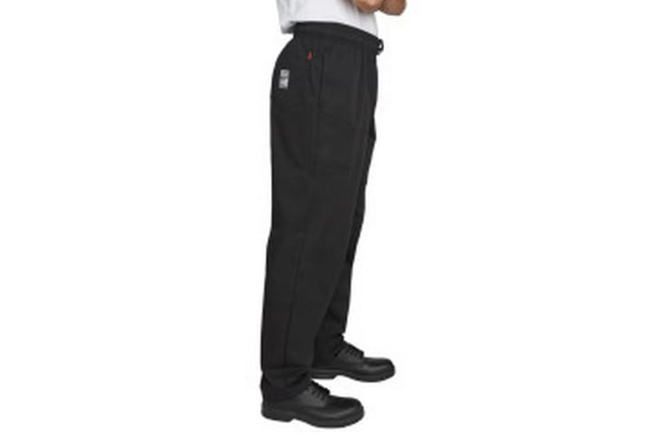 Dennys Mens Executive Chef Trousers (Pack of 2) (Jet Black) (M)