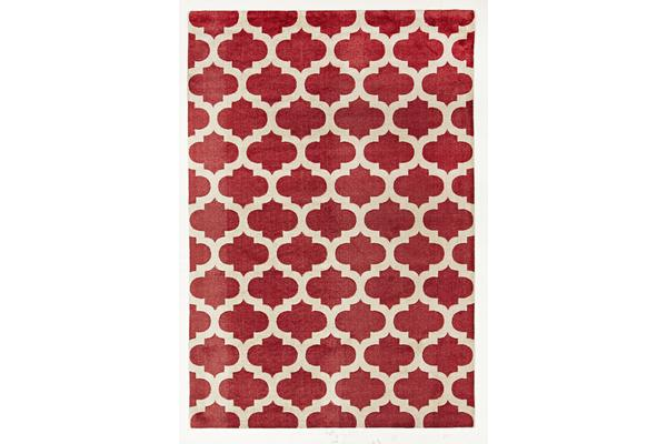 Trellis Stylish Design Rug Red 220x150cm